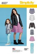 8027 Simplicity Pattern: Girls' and Girls' Separates Pattern